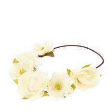 Ivory Flower Headwrap