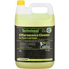 techniseal efflorescence cleaner - for cleaning pavers and removing efflorescence