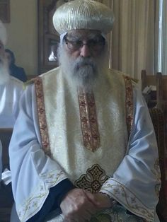 Ava Bakhomious Metropolitan of Beheira, Matrouh, North Coast, Libya and the five western cities for the Coptic Orthodox Church of Egypt. Bishop Bakhomious, was the acting head of the Coptic Church, when he installed and appointed Pope Tawadros II who is currently the Pope of the Coptic Orthodox Church