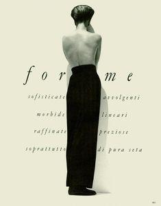Tatjana Patitz by Herb Ritts - Vogue Italia Sept. Tatjana Patitz, Herb Ritts, White Fashion, Your Image, Fashion Models, Love You, Vogue, Black And White, Vintage