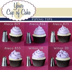 Cupcake icing styles. Which one do you like Alex?