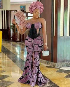 Nigerian Lace Styles Dress, Aso Ebi Lace Styles, African Party Dresses, Long African Dresses, Lace Gown Styles, Latest African Fashion Dresses, African Print Fashion, African Fashion Traditional, African Inspired Clothing