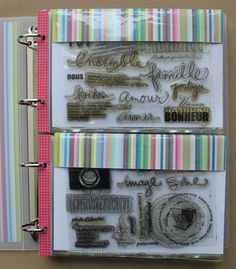 Stamp organiser DIY   binder