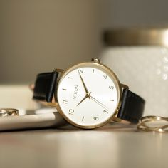 Scandinavian influences and menswear-inspired details make the Arrow a modern classic. Daily Dress, Women's Watches, Black Stainless Steel, Modern Classic, Omega Watch, Arrow, Wedding Day, My Style, Simple