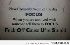 Work Quote : Bad word funnies  Sarcastic and crude humor  PMSLweb