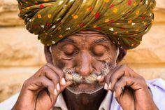 Moustache of Rajasthani in Jaisalmer