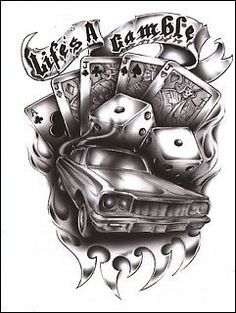Lifes a gamble flaming cards and dice tattoo design · gambling Dice Tattoo, 4 Tattoo, Card Tattoo, Chest Tattoo, Tattoo Hand, Tattoo Life, Gambling Machines, Tattoo Zeichnungen, Chicano Art