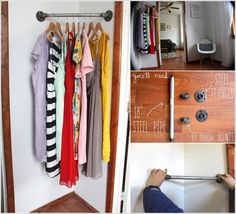 12 Awesome and Unique DIY Corner Closet Ideas Clever Diy, Cool Diy, Pipe Closet, Metal Clothes Rack, Room Humidifier, Corner Closet, Wood Images, Build A Closet, College Room