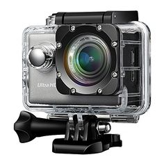 Lightdow LD6000 WiFi 1080P HD Sports Action Camera Bundle with DSPNovatek NT96655 Chip 20Inch LTPS LCD 170 Wide Angle Lens and Bonus Battery BlueWiFi ** More info could be found at the image url.