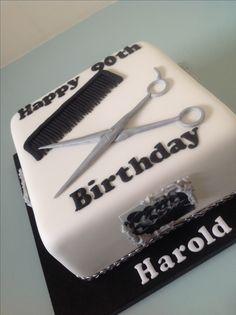Hairdressers cake Cosmetology Cake, Hairdresser Cake, Birtday Cake, Cake Models, Cake Decorating Videos, Birthday Cakes For Men, Unique Wedding Cakes, Buffet, No Bake Treats