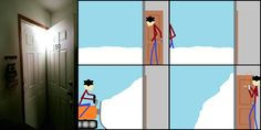 """What I imagine happened whenever I see one of those """"My door is filled with snow"""" pics via Classy Bro"""