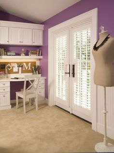 Purple bedroom - she would love it!  Charmed Violet 1396 Benjamin Moore close