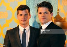 (L-R) Actors/brothers Charlie Carver and Max Carver attend HBO's post Golden Globe Awards party at The Beverly Hilton Hotel on January 11, 2015 in Beverly Hills, California.  (Photo by Barry King/FilmMagic)