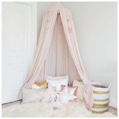 Come and follow me on Pinterest!! This sweet little canopy corner is my most pinned image...but I've got a whole board of super cute toddler gifts for Christmas too! Come join the fun! Link in profile. + = tonight. #canopy #kids #pinterestinspired