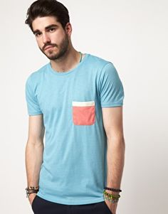 Enlarge ASOS T-Shirt With Contrast Tape Pocket