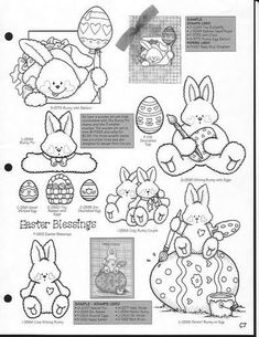 Painting Patterns, Craft Patterns, Easter Printables, Animal Books, Tole Painting, Digi Stamps, Vintage Easter, Easter Crafts, Easter Bunny