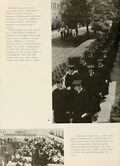 Athena yearbook, 1960. The Ohio University 1959 graduation.