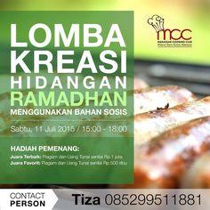 Lomba kreasi ramadhan dengan menggunakan bahan sosis.