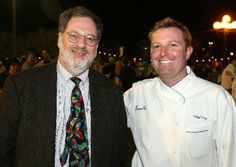 Tom Fitzmorris with Chef Tory McPhail. Tom celebrated the 25th anniversary of his show with a very special eat club dinner at Commander's Palace.