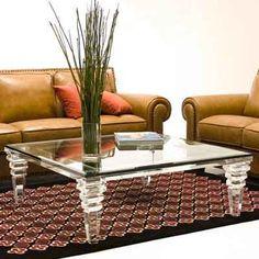 Haziza acrylic Aurora cocktail table - Cerzan Studio