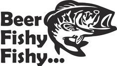 Beer Fishy Fishy Vinyl Decal just 4.99! #Fishing #Bass #Decal
