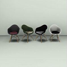 Leo 4 Sims: Eames Chair • Sims 4 Downloads
