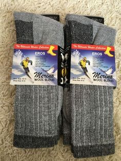 4x Men Merino Wool Winter Hiking Camp Warm Cushion Outdoor Thermal Socks NWT  | eBay