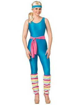 Get suited up and ready for that next aerobics class in this Barbie Women's Exercise Barbie Costume. This officially licensed Exercise Barbie costume will be great this Halloween. Halloween Costumes Plus Size, Barbie Halloween Costume, Doll Costume, Adult Costumes, Barbie Fancy Dress Costume, Trendy Halloween, Group Halloween, Funny Halloween, Halloween Stuff