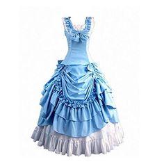 Partiss Damen ärmellose Ballkleid gotische Lolita Abendkleid mit Bowknot für die Hochzeit(XS,Light blue) Partiss http://www.amazon.de/dp/B00EE280PW/ref=cm_sw_r_pi_dp_2yR3vb0S41MYB