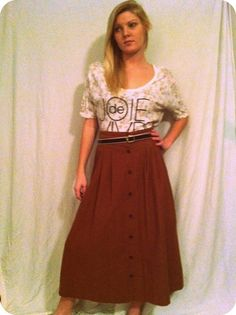 Vintage button up skirt by hodgepodgeandcompany on Etsy, $29.00