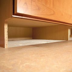 How to Build Under-Cabinet Drawers & Increase Kitchen Storage , Under Cabinet Drawers, Cabinet Fronts, Storage Drawers, Storage Cabinets, Storage Spaces, Kitchen Sink Storage, Kitchen Drawer Organization, Kitchen Drawers, Kitchen Cabinet Design