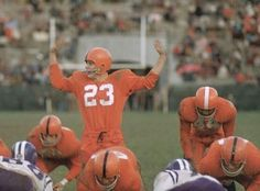QB Chuck Zimmerman and Jim Brown in the Syracuse backfield during 1956