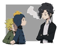 Creek ▪ Craig x Tweek ▪ South park South Park Anime, South Park Goth Kids, Style South Park, South Park Series, Tweek And Craig, Tweek South Park, Cute Photos, Fan Art, Comics