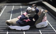 Garbstore×Reebok OG PUMP FURY BROWN/NAVY