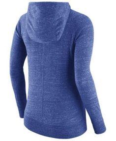 Nike Women's Kentucky Wildcats Gym Vintage Full-Zip Hoodie - Blue XXL