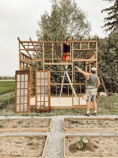 How I Built my Dream Greenhouse - Arrows & Twine Backyard Greenhouse, Greenhouse Plans, Backyard Sheds, Outdoor Projects, Garden Projects, Shed Landscaping, Building A Garage, Building Plans, Chicken Garden