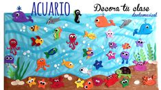 Under the sea Octopus Crafts, Ocean Crafts, Fish Crafts, Diy And Crafts, Crafts For Kids, Under The Sea Crafts, Under The Sea Theme, Class Decoration, School Decorations