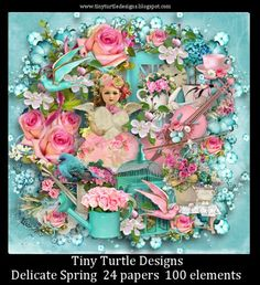 Delicate Spring Kit [Tiny Turtle Designs] - $0.99 : Twilight Scraps