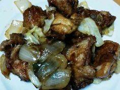 野菜と鳥モモ肉の甘タレ炒めの画像