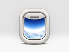 """Airplane window"" icon by Zukhriddin 2013-03 via dribbble 978583"