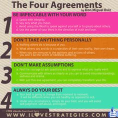 The Four Agreements by Don Miguel Ruiz Lotr Quotes, Game Quotes, Toltec Wisdom, The Four Agreements, Wisdom Books, Book Summaries, Do Your Best, Golden Rule, Printable Quotes