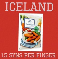 Iceland fish finger syns Slimming World Syn Values, Slimming World Syns, Slimming World Recipes, Iceland Slimming World, Slimming Word, Fish Finger, Syn Free, Diet Recipes, Lisa