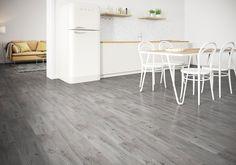 Cortone Grigio x Porcelain Tile Grey Vinyl Flooring, Vinyl Flooring Kitchen, Wood Flooring, Wood Effect Floor Tiles, Tile Floor, Grey Kitchen Floor, New Bathroom Designs, Grey Wood, Wood Design