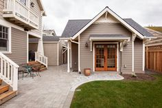 12 Surprising Granny Pod Ideas for the Backyard_garage granny flat_allcreated Downsizing to spend more time with your kids and grandkids? These Surprising Granny Pod ideas are a great way to maintain independence with charm!
