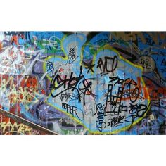 Graffiti Signatures Wall ❤ liked on Polyvore featuring art, backgrounds and frames & background