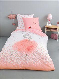 parure housse de couette 220x240cm taie coton g om trique c ladon grafism chambre. Black Bedroom Furniture Sets. Home Design Ideas