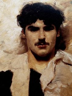 """rickinmar: """"Gondolier. a painting detail by John Singer Sargent. 1880s """""""