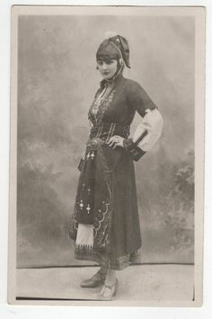 Greece costume of macedonia from the lyceum club of greek women Greece Costume, Greek Traditional Dress, Macedonia Greece, Black And White Words, Old Greek, Greek History, Greece Holiday, Doodle Inspiration, Thessaloniki