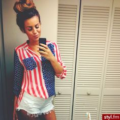 Not one for the patriotic colors, but this shirt is pretty cute.