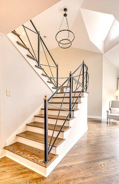 New renovated custom wrought iron balusters. Simply fabulous March 2015